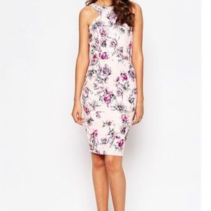 🌸ASOS🌸NWT FLORAL PENCIL DRESS WITH HALTER NECK🌸